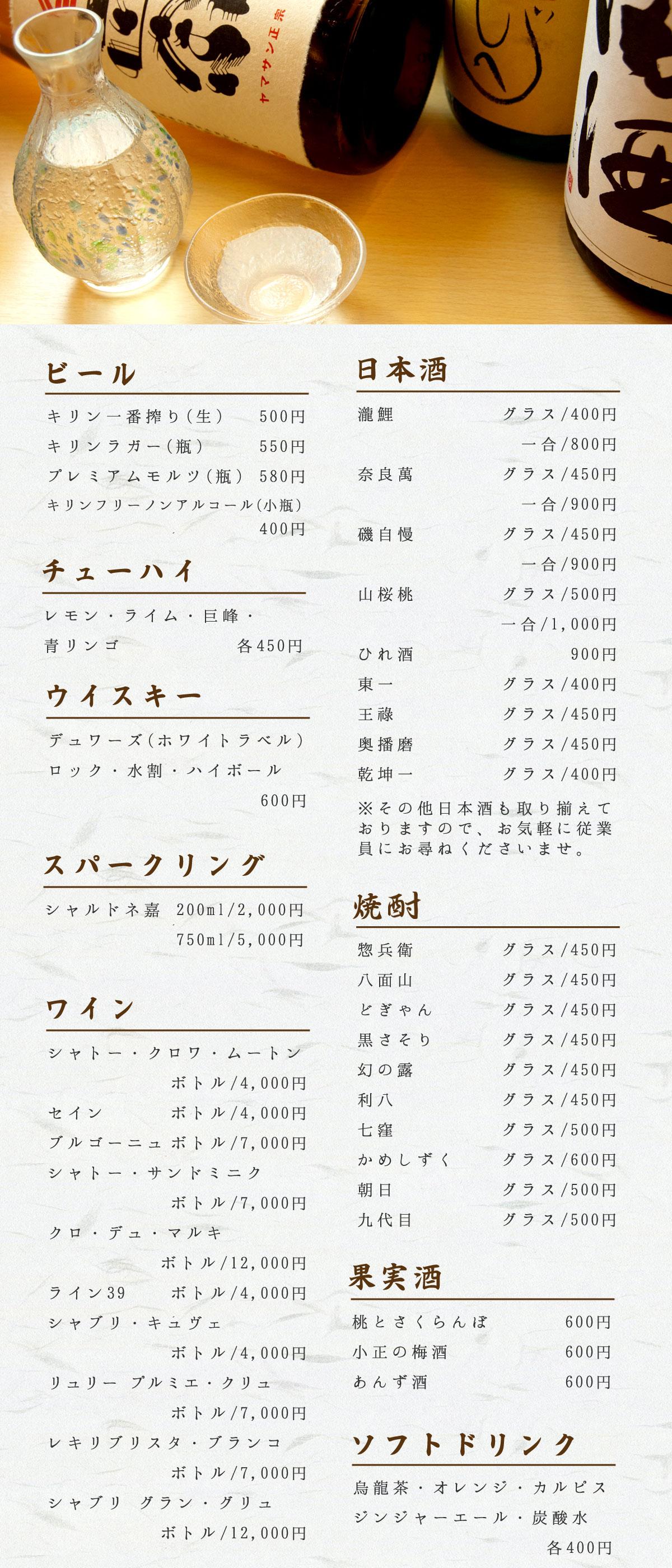 JR・阪急・阪神・各線三宮駅より改札を出て徒歩3分 四季魚菜うらべ